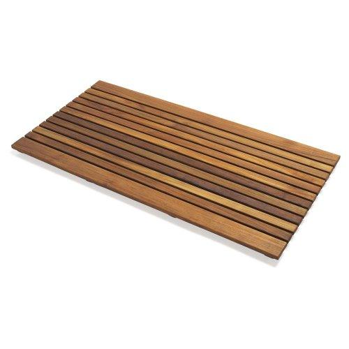 Infinita Corporation Le Spa Rectangular Teak Shower Floor And Tile In Oiled Finish