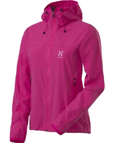 Hagl&#246;fs Damen Softshelljacke Boa Q Hood, cosmicpink, M, 601196