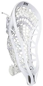 STX Lacrosse X10 U Strung Head with White Duramesh Power V Pocket by STX