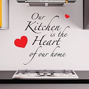 adesivo4you--Our-Kitchen-Is-The-Heart-Of-The-Home-Wall-Sticker-Sticker-de-mur-pour-cuisines-et-restaurants