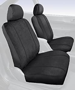 Saddleman Custom Made Front Bench / Backrest Seat Cover - MicroSuede Fabric (Black)