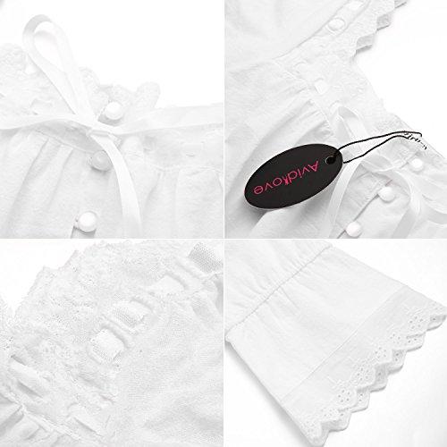Avidlove Womens Cotton Victorian Nightgowns Romantic Long Bell Sleeve Nightshirt 5