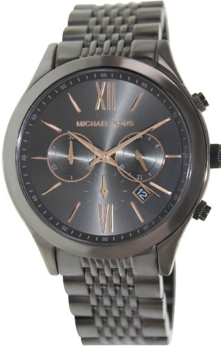 Michael Kors Gunmetal Dial Gunmetal Ion-plated Mens Watch MK8318
