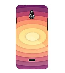 PrintVisa Spiral Pattern 3D Hard Polycarbonate Designer Back Case Cover for Infocus M2
