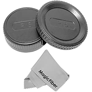 Camera Body Cap and Rear Lens Cap Cover For Pentax PK K-m Kx +1 Ultra Fine GOJA Microfiber Cleaning