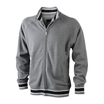 James & Nicholson Veste baseball sweat shirt zippÃ