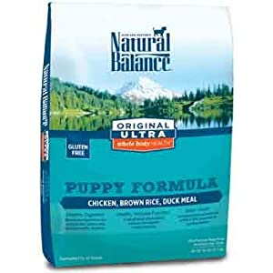 Dick Van Patten's Natural Balance Ultra Whole Body Health Chicken Brown Rice and Duck Meal Puppy Formula Dry Dog Food, 28-Pound
