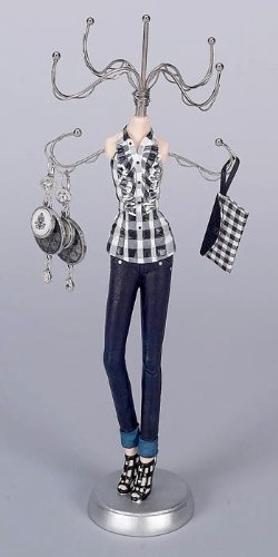 Mannequin Jewelry Stand Organizer - Plaid Appeal