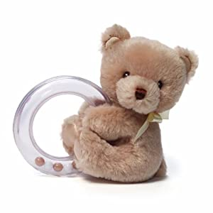 Gund My First Teddy Bear Baby Rattle Stuffed Animal
