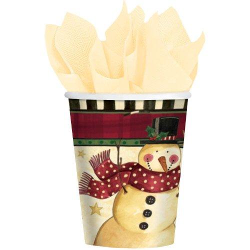 Cozy Snowman 9oz Paper Cups (8ct)