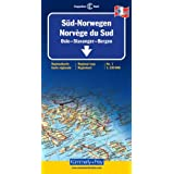Carte routi�re : Norv�ge Sudpar Cartes K�mmerly + Frey