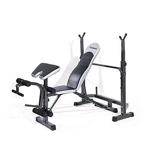 Weights Bench Multi Home Gym Equipment Dumbell Workout Abs: TOMSHOO Adjustable Multi-Station Weight Bench Press