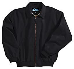 Achiever Microfiber Jacket with Poplin Lining, Color: Black, Size: XXXXXX-Large Tall
