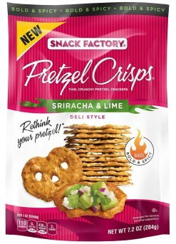 Pretzel Crisps Deli Style Sriracha & Lime Case of 12 - 7.2 oz Bags