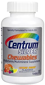 Centrum Silver Multivitamin Chewables, Citrus Berry, 60 ct