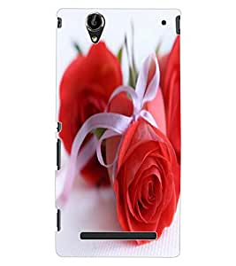 ColourCraft Beautiful Rose Design Back Case Cover for SONY XPERIA T2 ULTRA DUAL D5322
