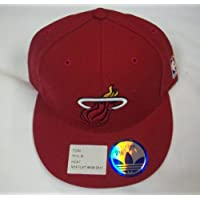 Miami Heat Flat Bill Fitted Hat by Adidas size 7 3/8