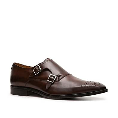 Amazon.com: Mercanti Fiorentini Double Monk Slip-On - 11/Cognac: Shoes