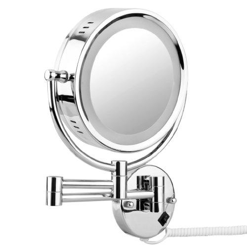 Espejo de ba o pared 10x ampliaci n 8 5 pulgadas doble for Espejo 8 aumentos