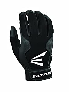 Easton Adult Typhoon III Batting Gloves (Large, Black/Black)