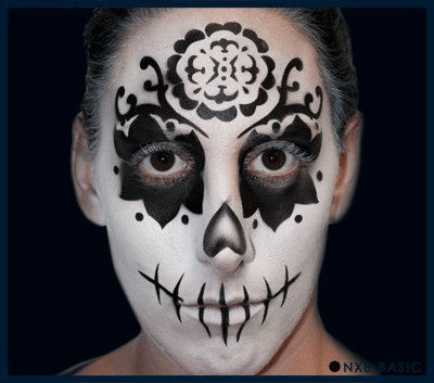 Nixs Coll-Sugar Skull Basic #2 Airbrush Makeup Face Template