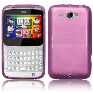 iBox – HTC ChaCha PURPLE Gel Skin Case Cover Plus Free Bonus Screen protector