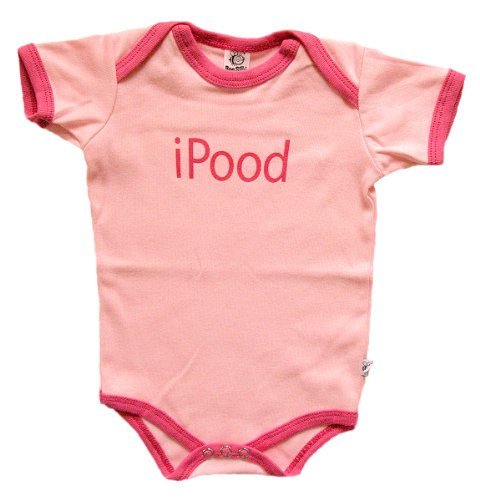 iPood - Silly Baby Bodysuit 100% Cotton, Pink