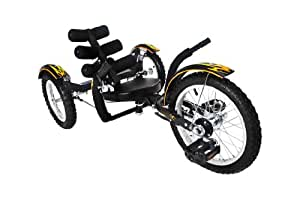 Mobo Mobito Ultimate Three Wheeled Cruiser, Black, 16-Inch