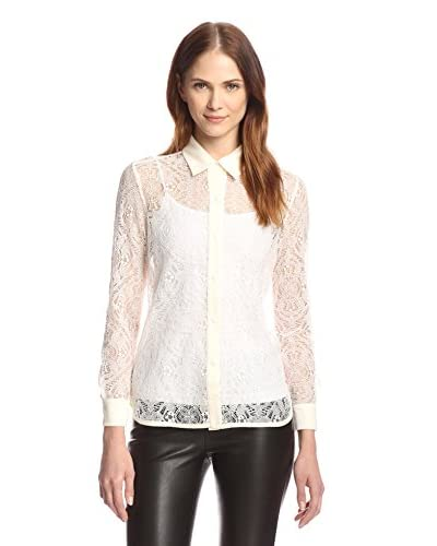 Allison Collection Women's Lace Button-Up Shirt