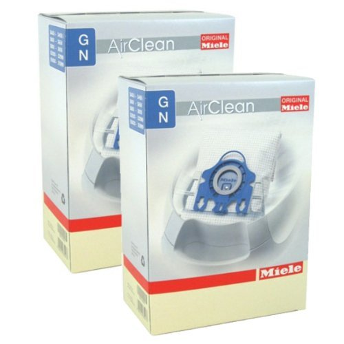 Miele Genuine GN Airclean Dust bags 8 bags w/4 filters FOR MIELE VACUUM
