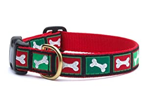 Christmas Bones Style Dog Collar