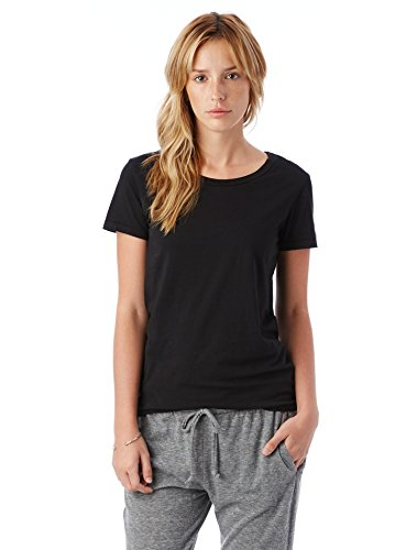 Alternative Womens Vintage Garment Dyed Crew T-Shirt Large Black (Garment Dyed T Shirt compare prices)
