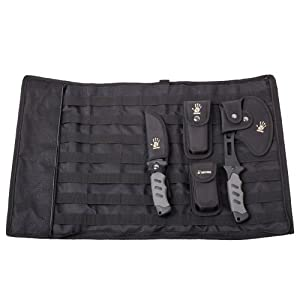 12 Survivors Knife Rollup Kit, Black