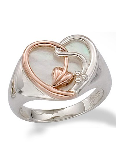 Clogau Gold Silver  &  9ct Rose Gold Together Forever Ring