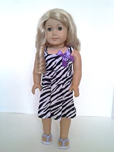 Zebra Print Dress for American Girl Dolls