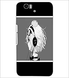 PrintDhaba Music Girl D-1367 Back Case Cover for HUAWEI NEXUS 6P (Multi-Coloured)