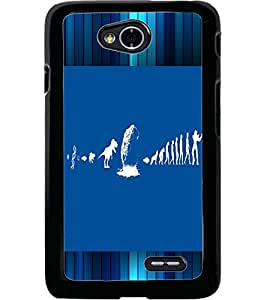 ColourCraft Funny Image Design Back Case Cover for LG L70