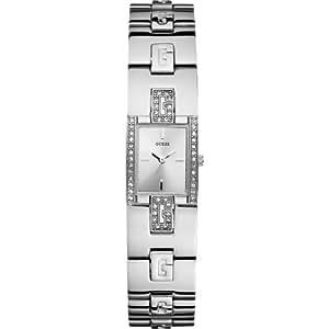 Guess - W75059L1 - Montre Femme - Quartz Analogique - Cadran Argent - Bracelet Acier Argent