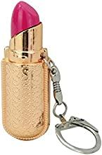 Novelty Lady Lipstick Shaped Cigarette Lighter Pendant Key Chain for Cigarette and Lighting - Rose G