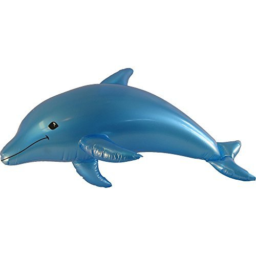 "40"" Inflatable Colored Dolphin Prop Decoration-Blue"