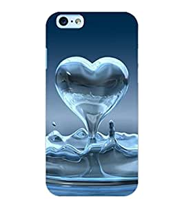 ColourCraft Water Heart Design Back Case Cover for APPLE IPHONE 6