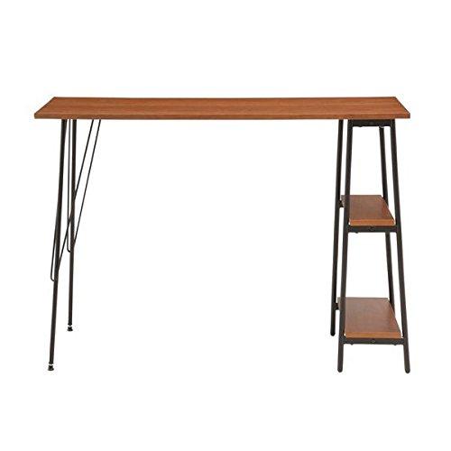 あずま工芸 カウンターテーブル 棚 机 キッチン ダイニング TCT-1240 ダークブラウン