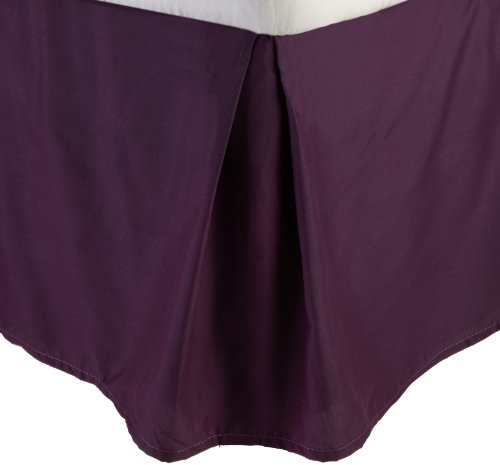 Lamma Loe'S Solid Tailored Bed Skirt/Dust Ruffle, King, Eggplant Purple front-564801