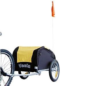 VEELA Bicycle Cargo Trailer in Yellow/Black 2021701