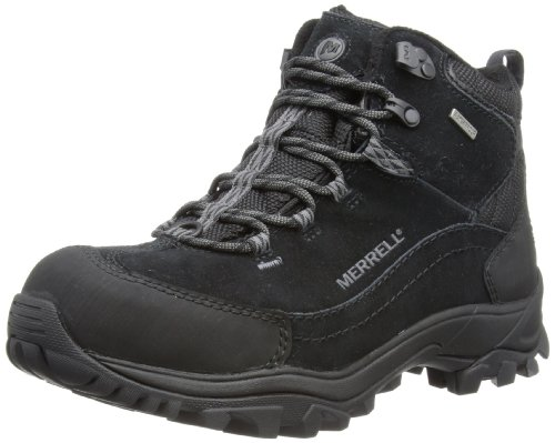 Merrell NORSEHUND OMEGA MID WTPF Trekking & Hiking Shoes Mens Black Schwarz (BLACK) Size: 10 (44 EU)