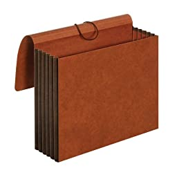 Globe-Weis Redrope Letter Size Wallet File, 5 1/4 Inch Expansion, 9.5 x 11.75 Inches, Brown, (C1073G)