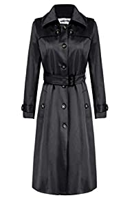 ANGVNS Women's Elegant Long Trench Co…
