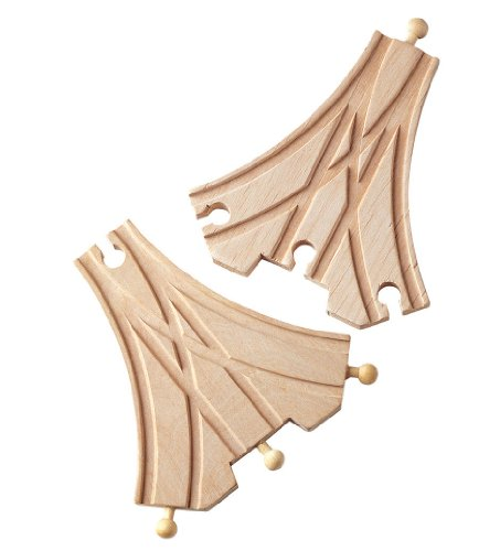 Maxim Toy Train Wooden Double Curved Switch (2 Pieces)