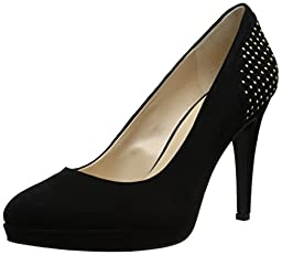 Nine West Women\'s Ideena Suede Dress Pump, Black, 8 M US