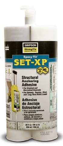 Simpson Strong Tie SET-XP22 22oz Structural Epoxy-Tie Anchoring Adhesive for Cracked and Uncracked Concrete